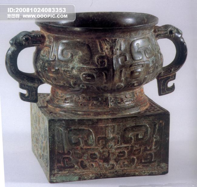鼎 艺术品 出土文物 古董 铜制品 艺术绘画