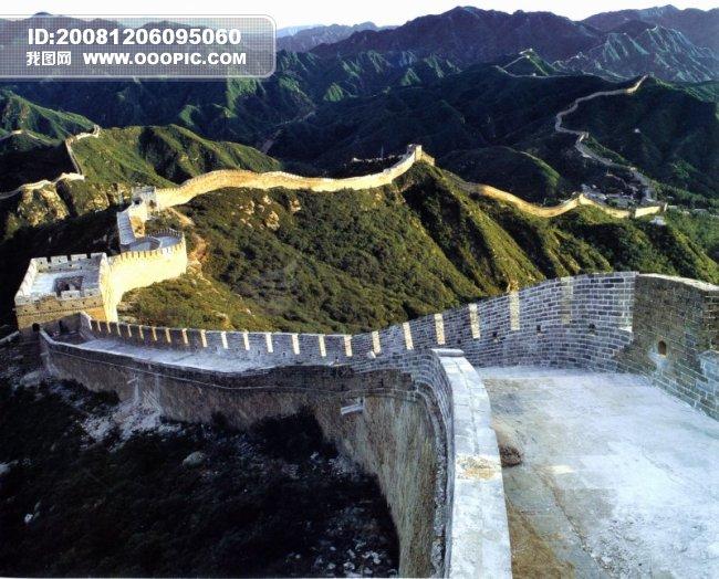 中华长城0040 中华长城图片 青砖 墙体 构造高清图片