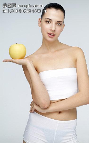 减肥美容苗条美女