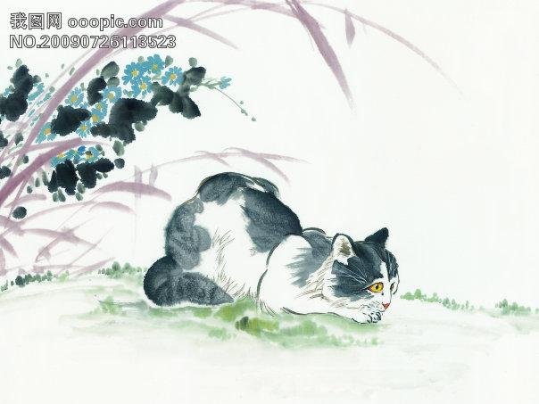 古图 动物 绘画 猫_美术绘画_文化艺术图片素材