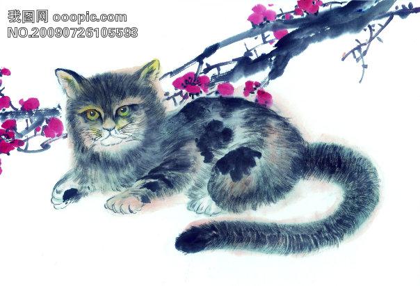 绘画 猫免费下载 古图 动物 绘画 猫 摄影图 文化艺术图片素材 美术绘