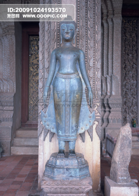 老挝48模板下载 老挝48图片下载 老挝雕像 人像 壁雕 石柱