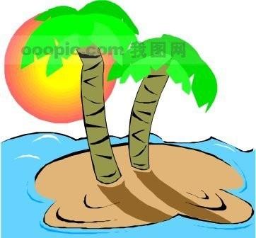 手抄报椰子树画法