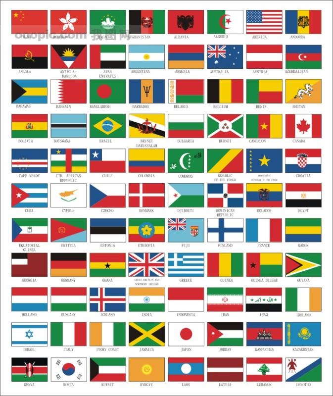 各国国旗,国旗,其他,标识标志图标