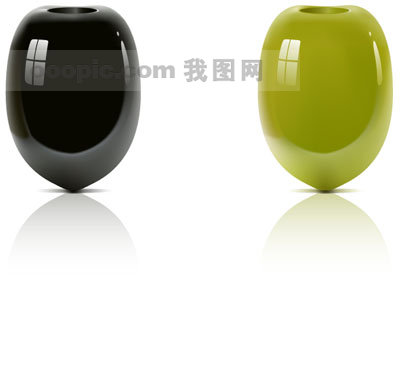素材 高精/高精水果,橄榄矢量图素材
