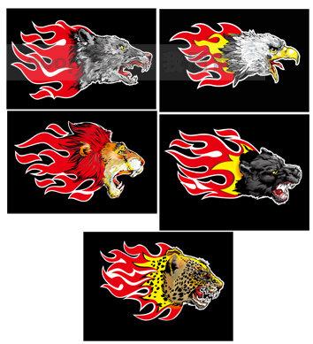 火焰动物头像