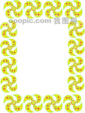 美式花纹边框27图片