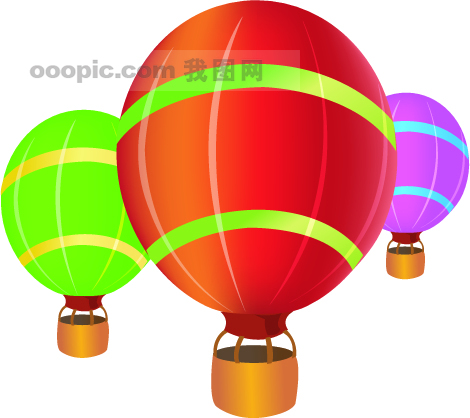 气球简笔画彩色