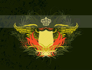 素材 翅膀/盾牌与翅膀元素矢量素材