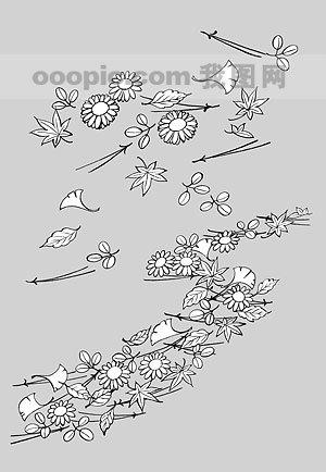 线描植物花卉矢量素材