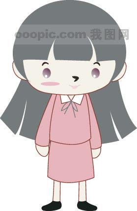 韩国小女孩矢量图_2;;;