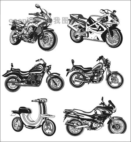 摩托 摩托车 矢量