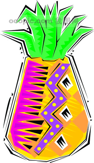 墨西哥手绘食物和乐器矢量素材13