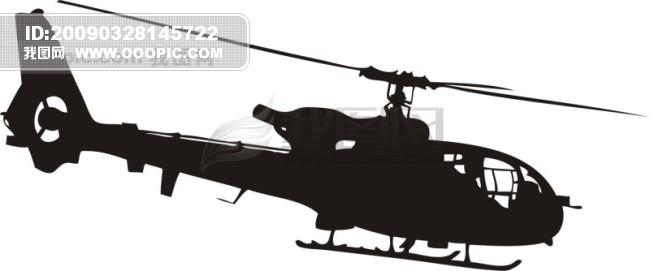 直升飞机剪影模板下载(图片编号:486450)