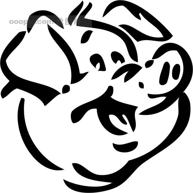 手绘猪纹样设计