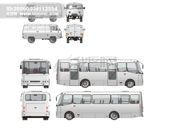 客车和商务车模板下载(图片编号:493340)