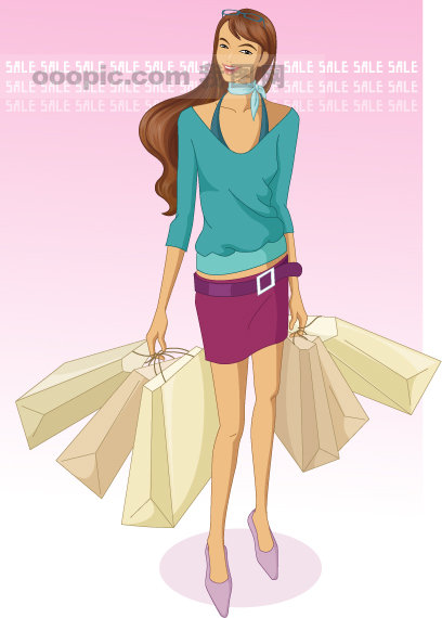 时尚青年 矢量女人女孩
