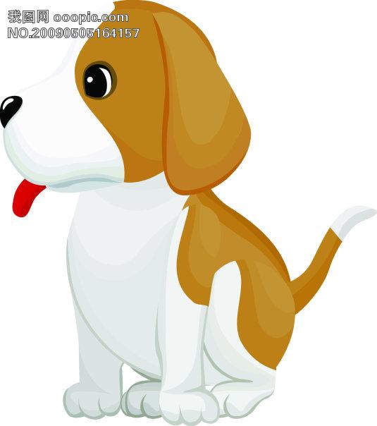 韩国矢量动物 可爱狗狗