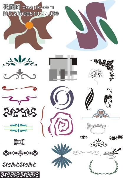 抽象欧式 简约花纹