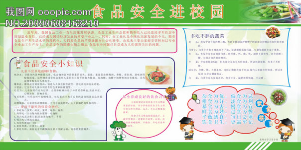 食品安全 展板模板矢量图 广告设计矢量素材