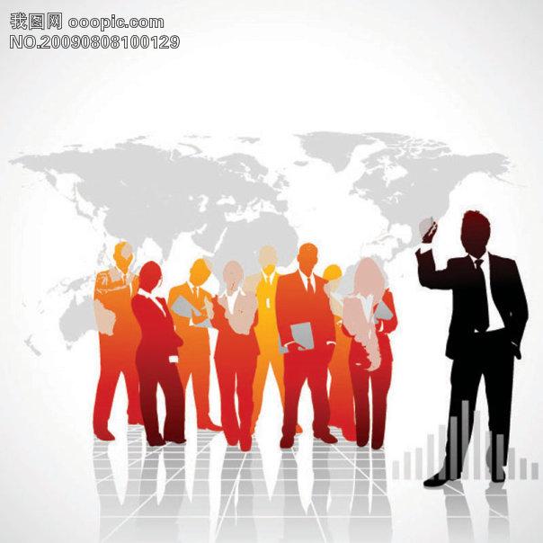 ...商业团队矢量素材图片下载 商业团队 商务人物 商业 人物剪...