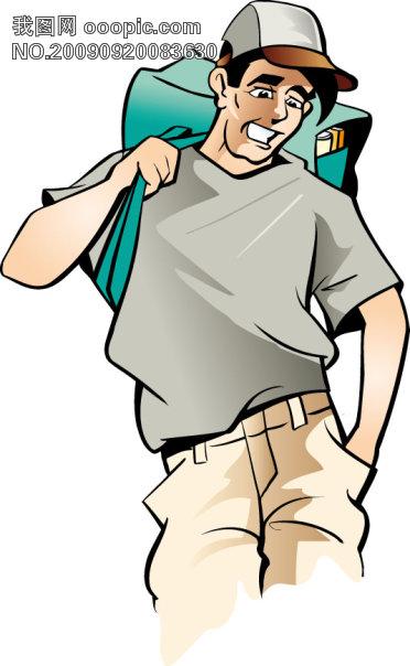 学校主题卡通插图矢量素材3