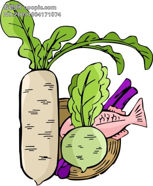 蔬菜6; 日式彩绘植物漫画素材:蔬菜矢量图三;; [eps]蔬菜6