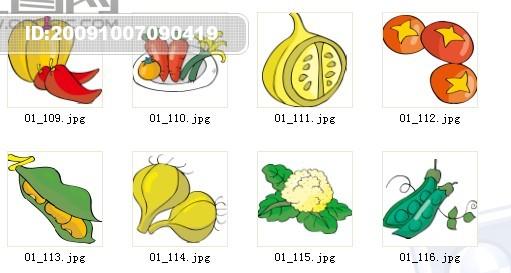 蔬菜水果矢量素材