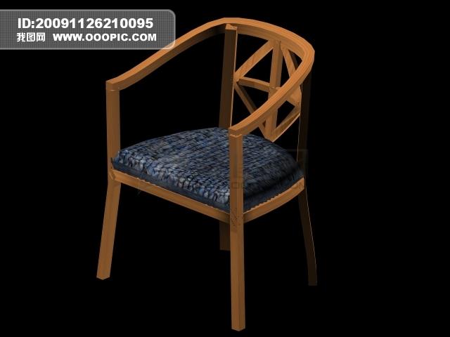 3d古朴椅子