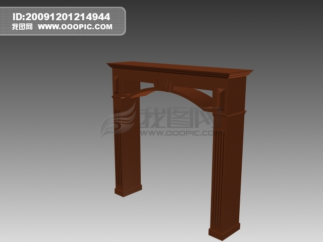 3d木质门框模板下载(图片编号:775369)