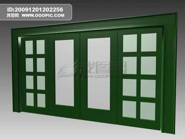 3d室内玻璃拉门模板下载 3d室内玻璃拉门图片下载 室内玻...