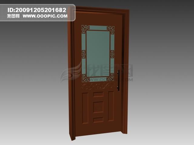3d玻璃室内门模板下载(图片编号:781364)