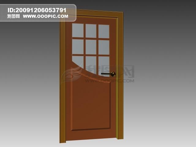 3d简约室内门模板下载(图片编号:781743)