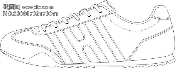 服装画鞋子手绘