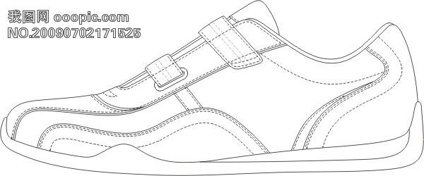 鞋子手绘稿正面