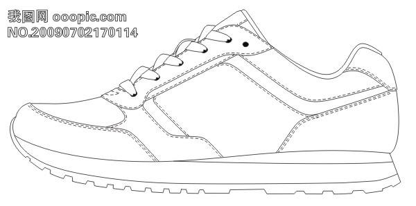 运动鞋简笔画图片