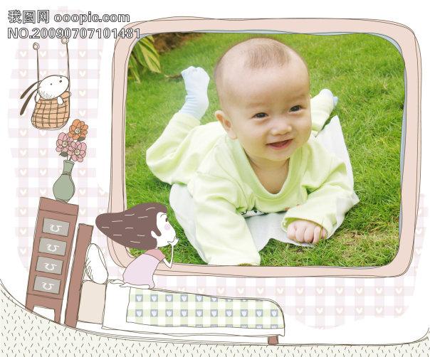 儿童模板 > 可爱手绘风格宝宝相框   可爱 手绘风格 宝宝 像框 摄影