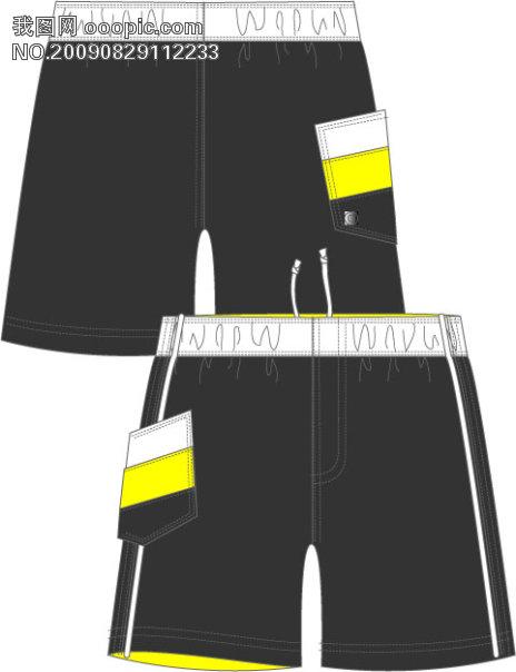 摩托车 手套 服装 行业 矢量花纹 潮流矢量图 手绘 插画 服装 短裤