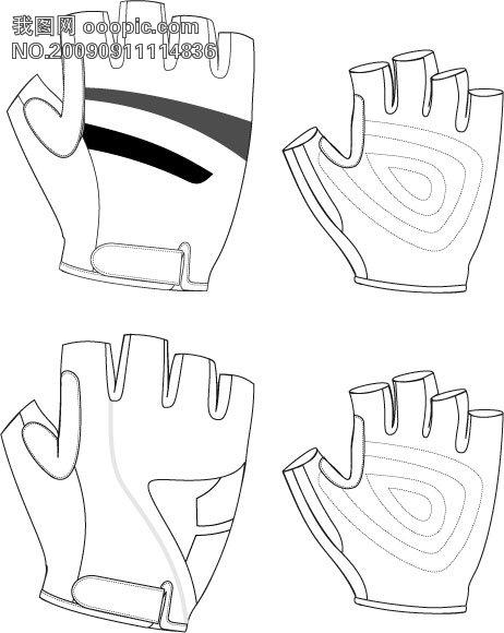 滑雪手套 微利设计 服装/布料/插画/手绘