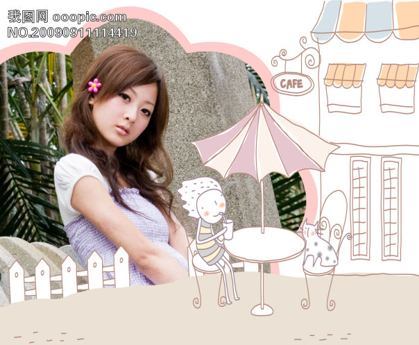 可爱手绘相框模版模板下载(图片编号:660355)_婚纱照