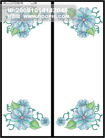 花朵边框移门图_玻璃移门_建筑/家居装饰_微利设计