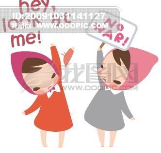 可爱韩国小红帽_卡通形象