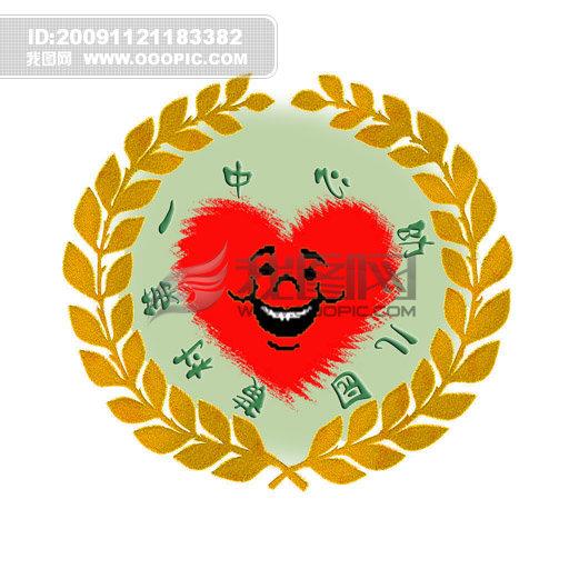 园徽(一)模板下载 园徽(一)图片下载外围-麦穗 绿色-大自然环保 (丰收