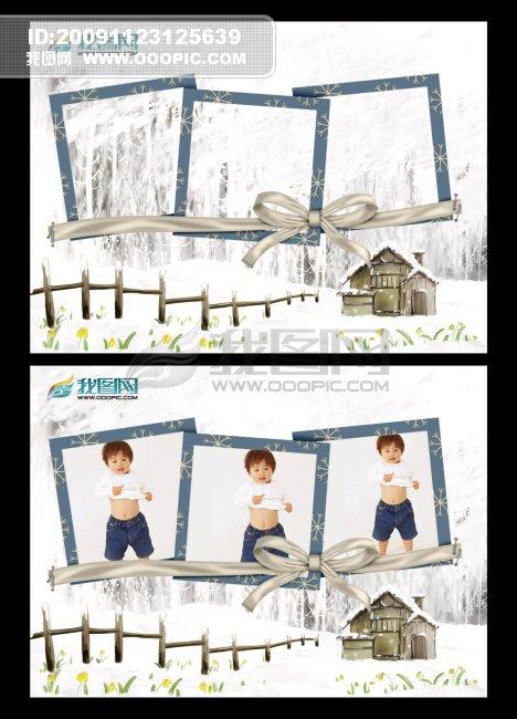 儿童相册设计模板 儿童摄影模板素材 韩国儿童摄影模板 儿童摄影psd