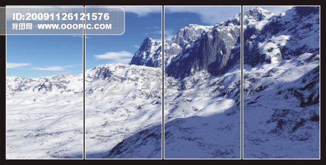 玻璃移门山景 移动门-梦幻 移动门-天空 南极洲山脉 南极风景 移动门