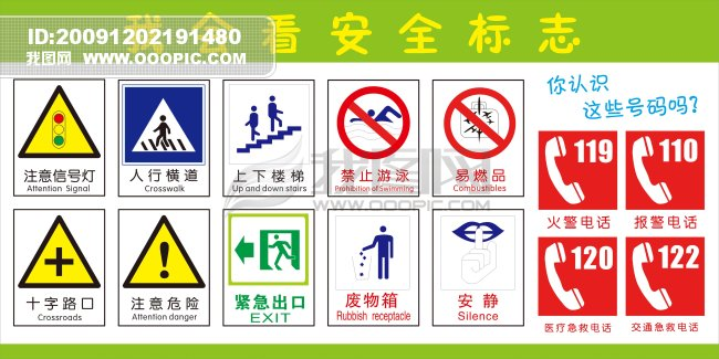 认识交通安全标志图
