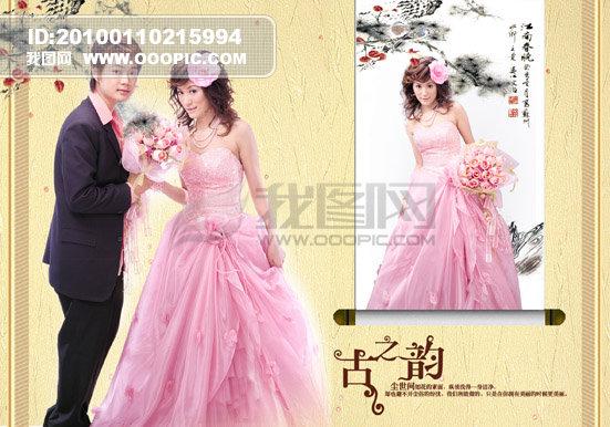 婚纱模板背景图片素材