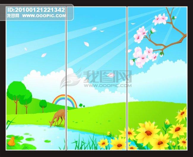 卡通风景移门模板下载(图片编号:845239)_移门_其他_.