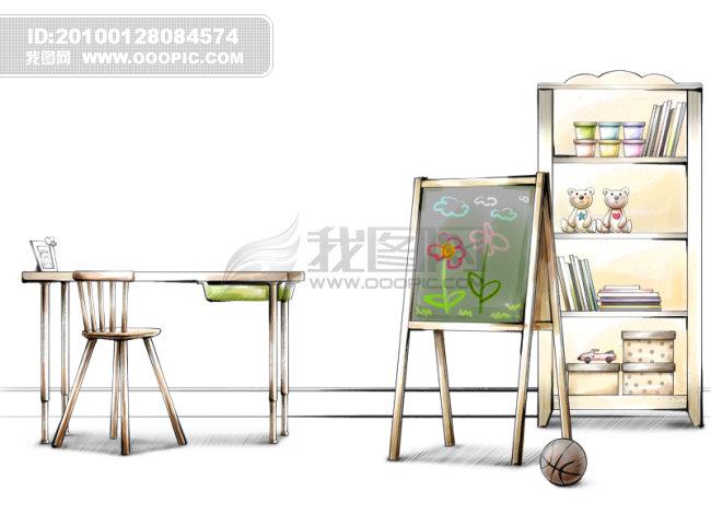 手绘室内装饰图