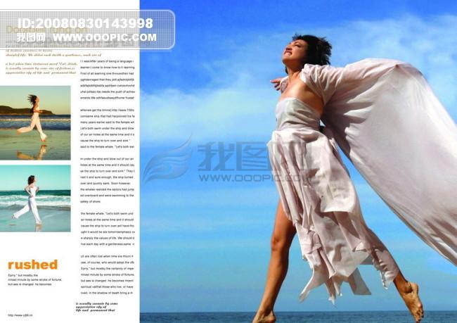 頁面 排版 版式 戶外 海邊 休閑 奔跑 輕松; 畫冊設計|版式|菜譜模板
